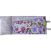 Bacati - Botanical Purple Toddler Nap Mat 100% Cotton Percale with attached pillow, size 20 x 50 inches
