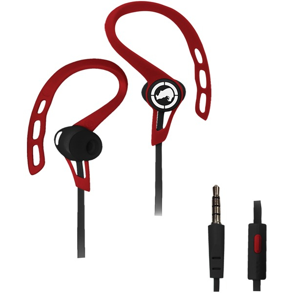 Ecko Unltd.(R) EKU-RSH-RD Rush Sport Earbuds with Microphone (Red)