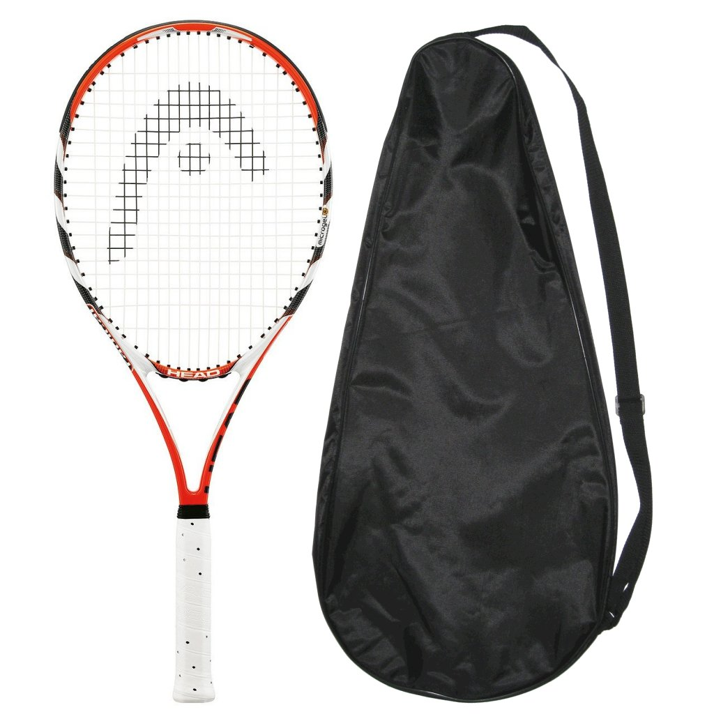 Head MicroGel Radical Oversize Tennis Racquet Strung with Cover OS by Head