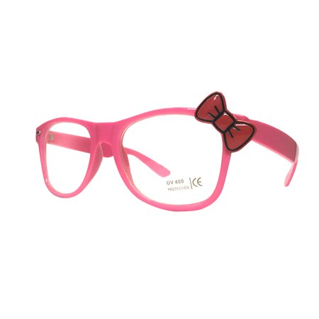 Pink Glasses With Red Bow Hello Kitty Nerd Costume Accessory Adult