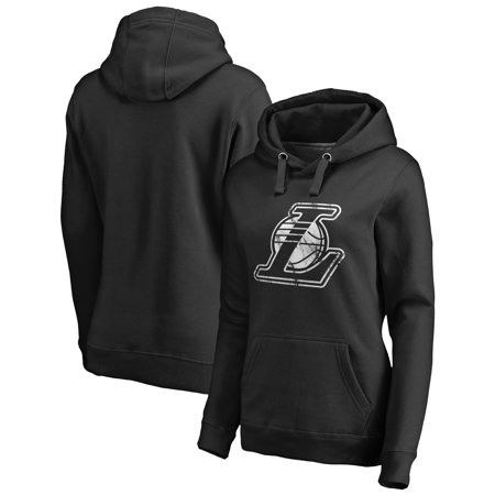 1563415487e Los Angeles Lakers Fanatics Branded Women s Marble Logo Pullover Hoodie -  Black - Walmart.com