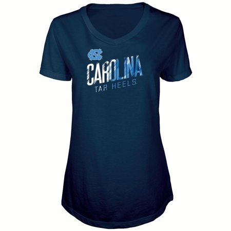 Women's Russell Navy North Carolina Tar Heels Tunic Cap Sleeve V-Neck T-Shirt