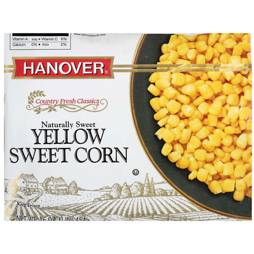 Hanover Country Fresh Classics Sweet Corn Yellow, 16 oz