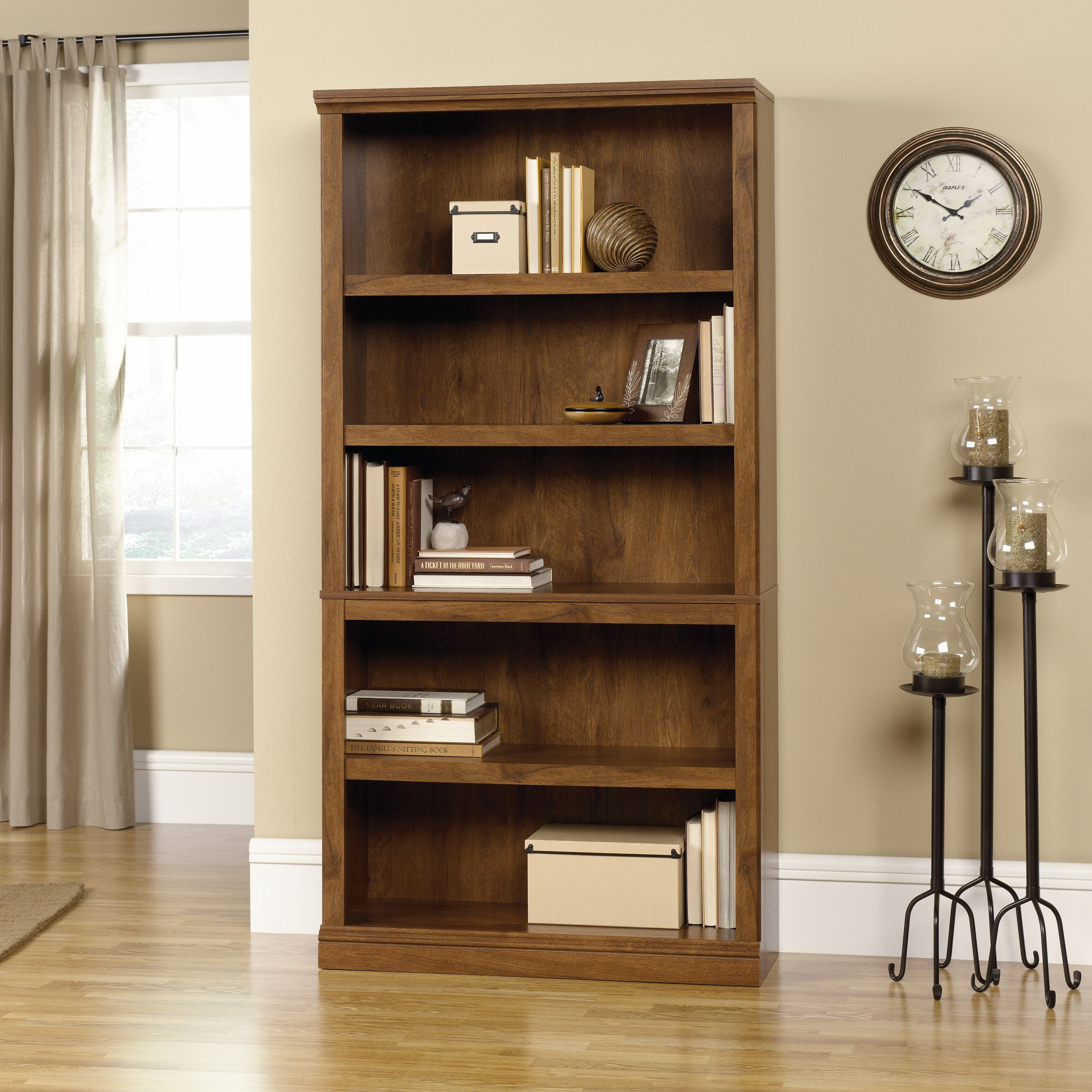 Home Straightforward Adjustable 3/ 4 Shelf Bookcase Storage Bookshelf Wood Furniture Book Shelving 4 Color For Choose