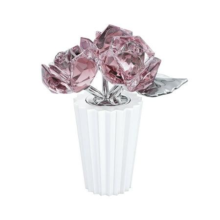 Swarovski Color Crystal Flowers Figurine ROSE BOUQUET #5268824 (Swarovski Flowers)