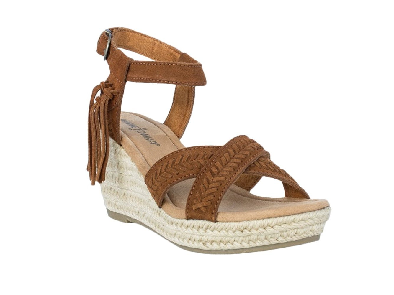 Minnetonka Naomi Women Open Toe Suede Wedge Sandal c0822372aa