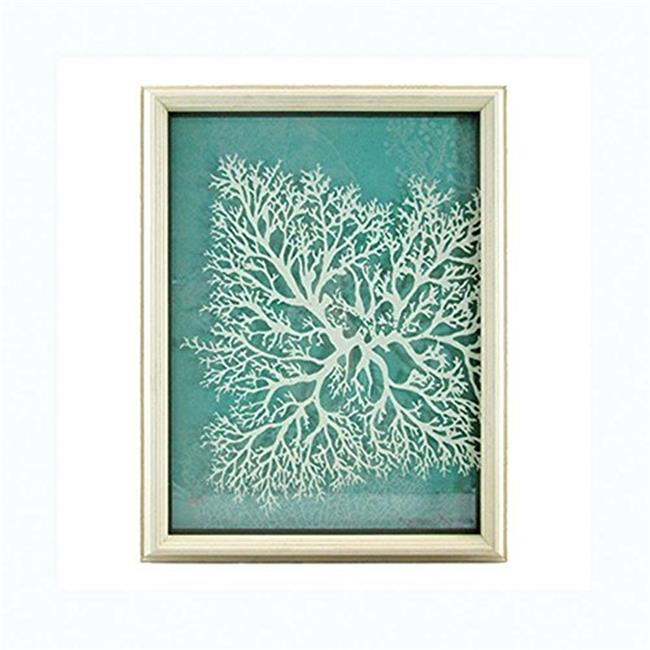 Unison Gifts ARG-119 16 in. Turquoise with White Coral Shadowbox - image 1 of 1