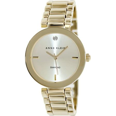 Anne Klein Tie - Anne Klein Women's AK-1362CHGB Gold Stainless-Steel Quartz Fashion Watch