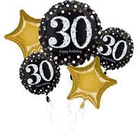 "Amscan International 3214301 ""sparkling 30th Birthday"" Foil Balloon Bouquet"