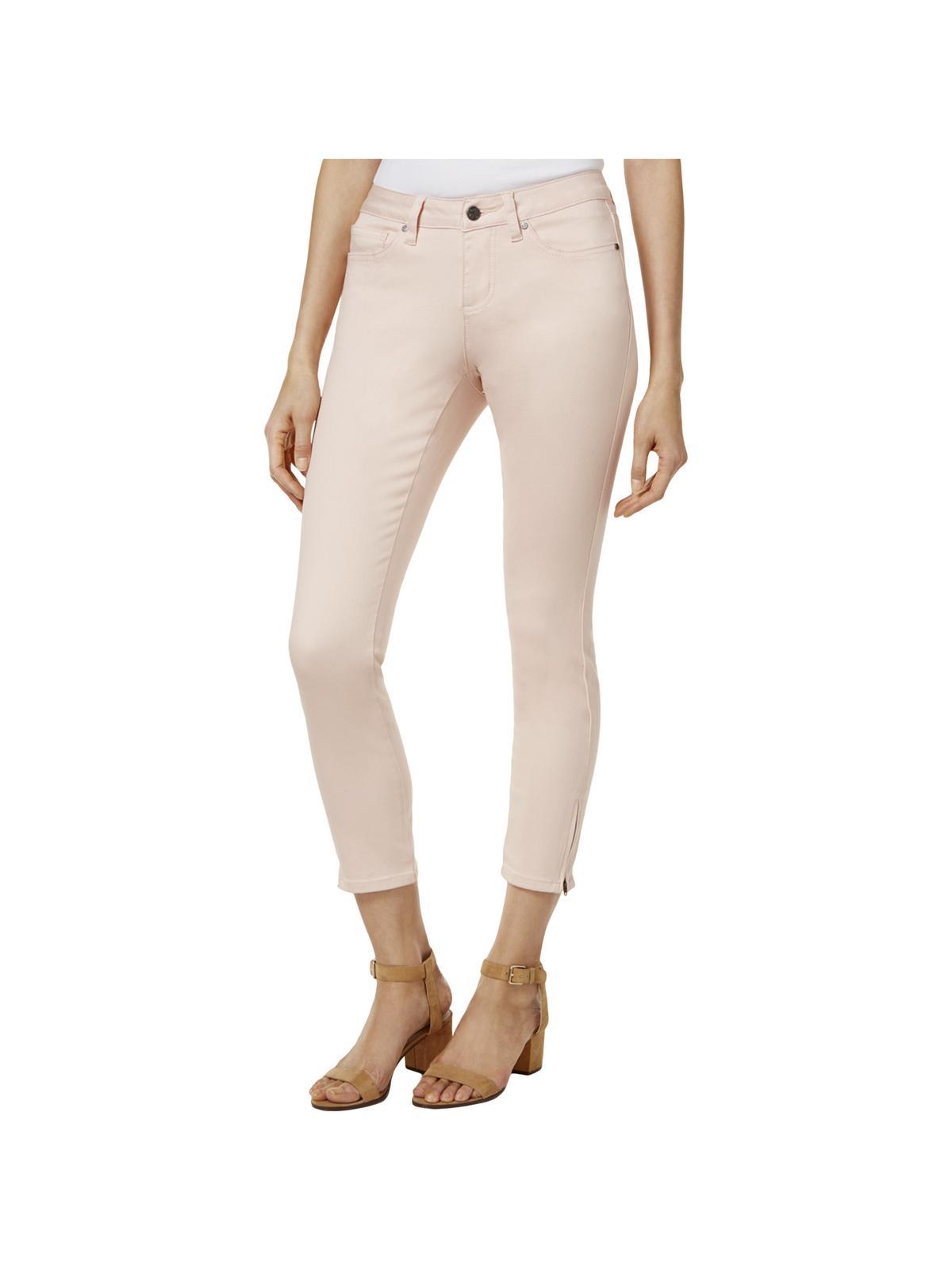 Earl Jean Womens Denim Zipped Ankle Ankle Jeans
