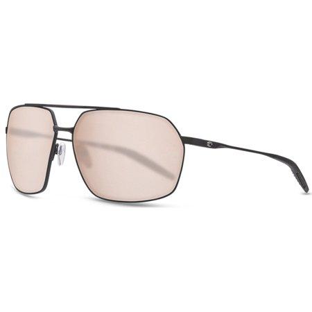Costa Del Mar Pilothouse Sunglasses, Black/Copper Silver 580P Mirror (580p Costa Del Mar)