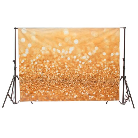 7x5FT Gold Glitter Wedding Photography Backdrop Vinyl Background Valentine's Day Photo Studio Prop - Diy Photography Props