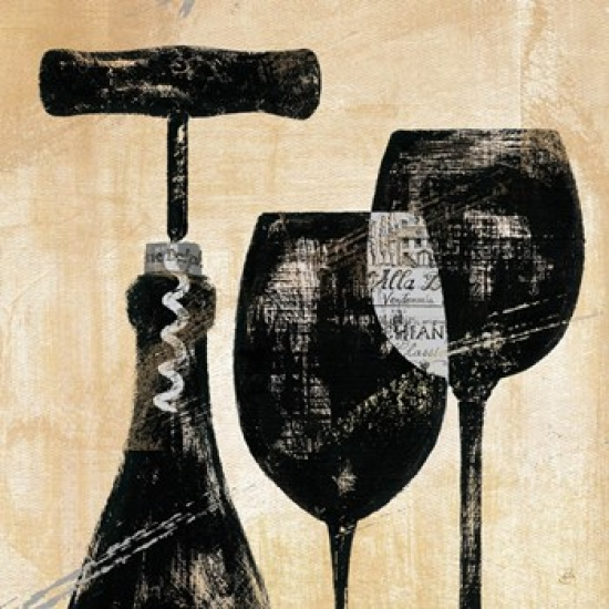 Wine Selection II Poster Print by Daphne Brissonnet (24 x 24)