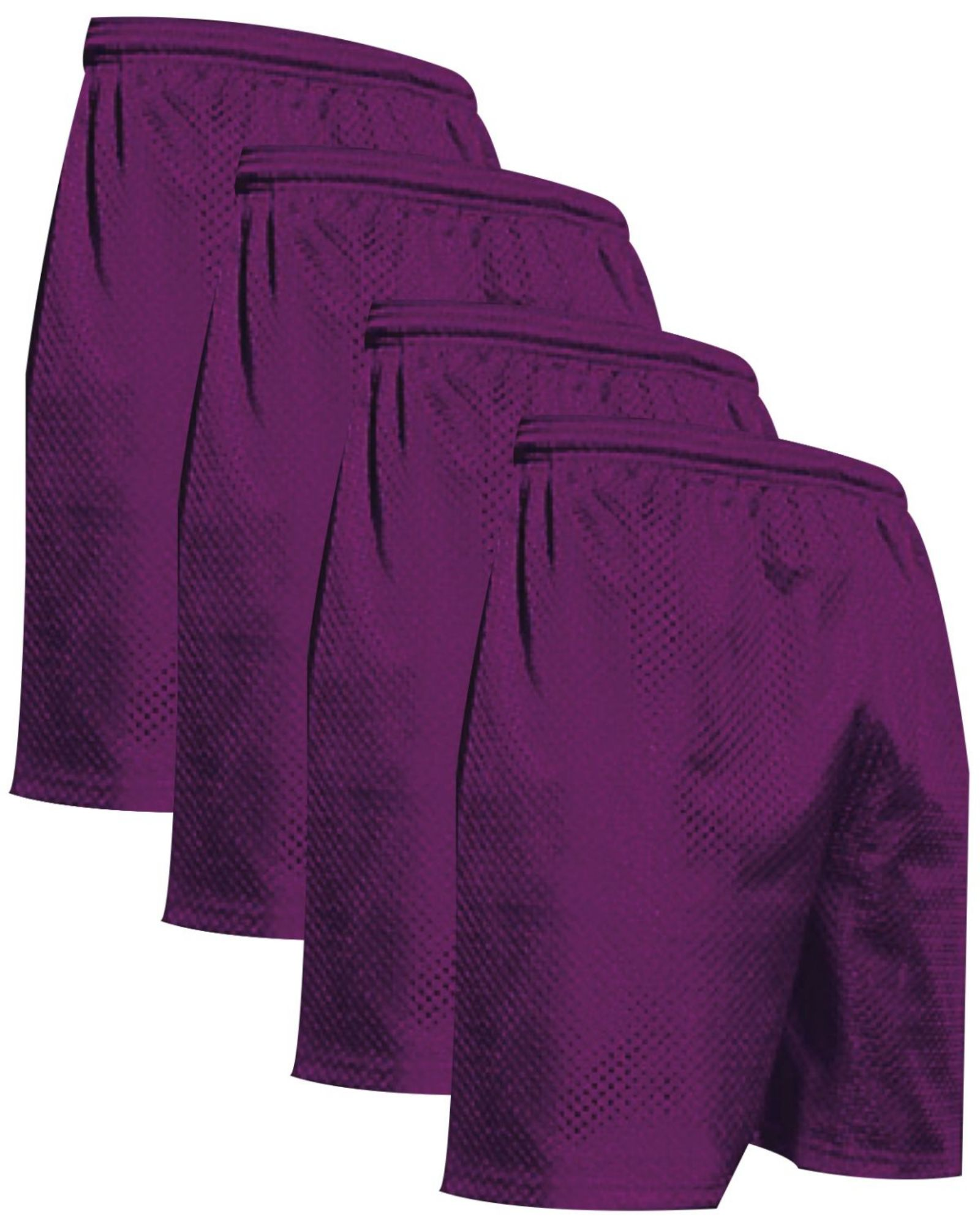 "VALUE PACK  > BUY 2 GET 2 FREE >  4 PACK > THE RAM BRAND > Men's  9"" Performance Pro Mesh Gym Champ Shorts (XS-4XL) $10 S/H is on the 1st Pack only. In this Pack: (S)(4Purple)"