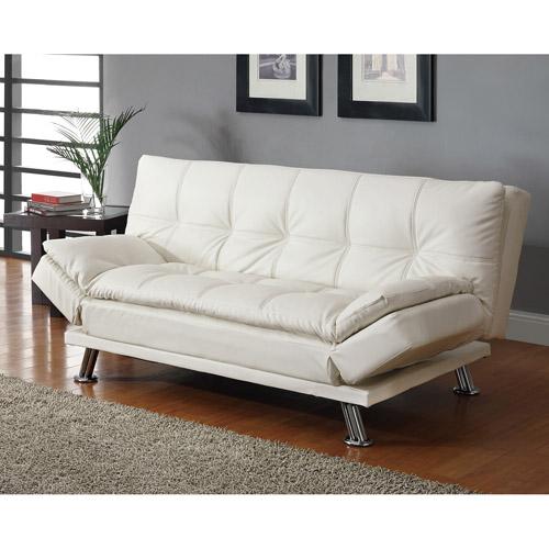 dilleston contemporary sofa bed, white - walmart