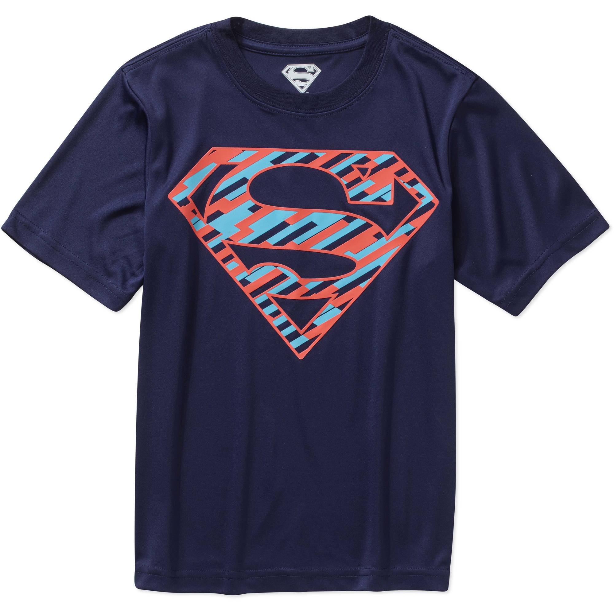 DC Comics Superman Logo Boys' Poly Graphic Tee