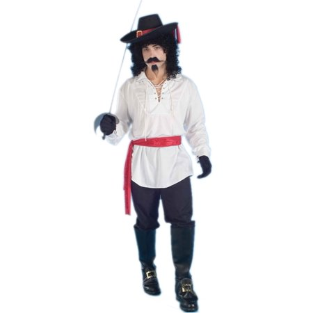 Adult Unisex Pirate Or Colonial White Lace Up Costume Swashbuckler Shirt