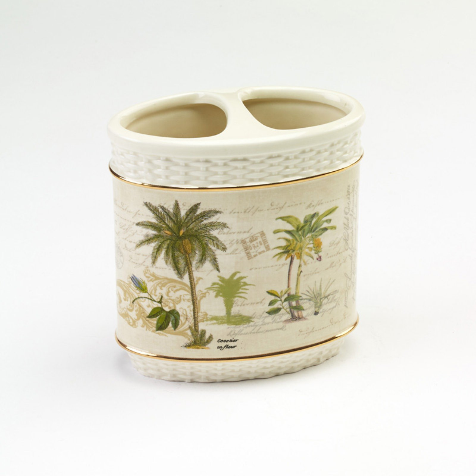 Avanti Linens Colony Palm Toothbrush Holder