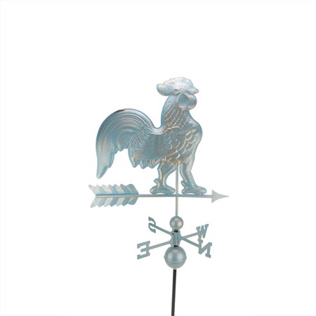 3' Polished Weathered Copper Patina Rooster Outdoor (Polished Rooster)