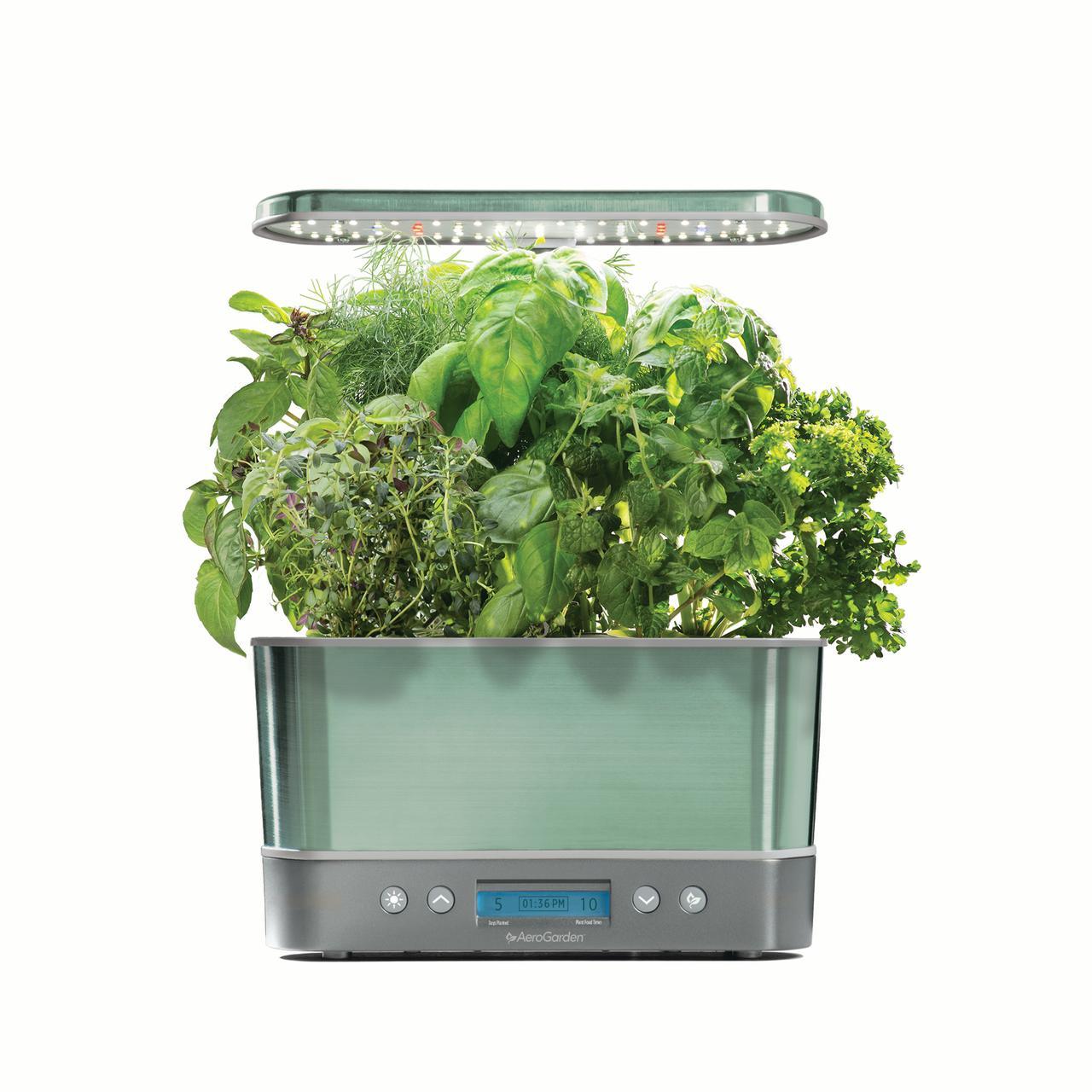 AeroGarden Harvest Elite, Stainless with Gourmet Herbs Seed Kit