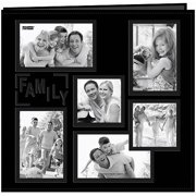 "Collage Frame Sewn Embossed Cover Postbound Album, 12"" x 12"""