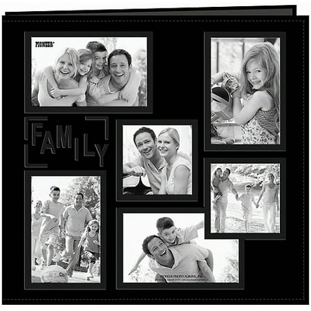 Collage Frame Sewn Embossed Cover Postbound Album, 12