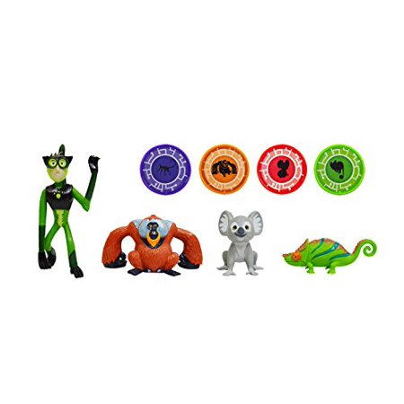 - Wild Kratts Toys - 4 Pack Action Figure Set - Activate Creature Power - Climbers