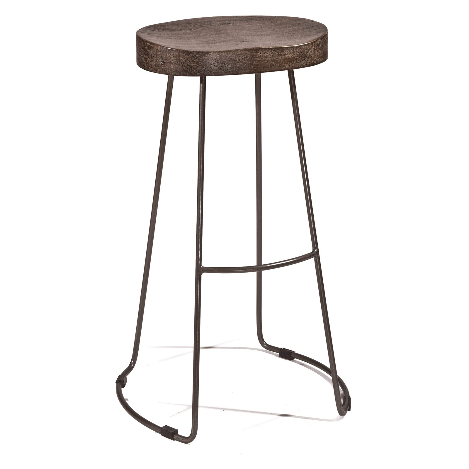 Hobbs Tractor Non Swivel Counter Stool Distressed Black