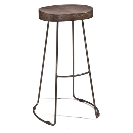 Hillsdale Hobbs Tractor Non-Swivel Counter Stool, Distressed Black/Pewter Finish ()