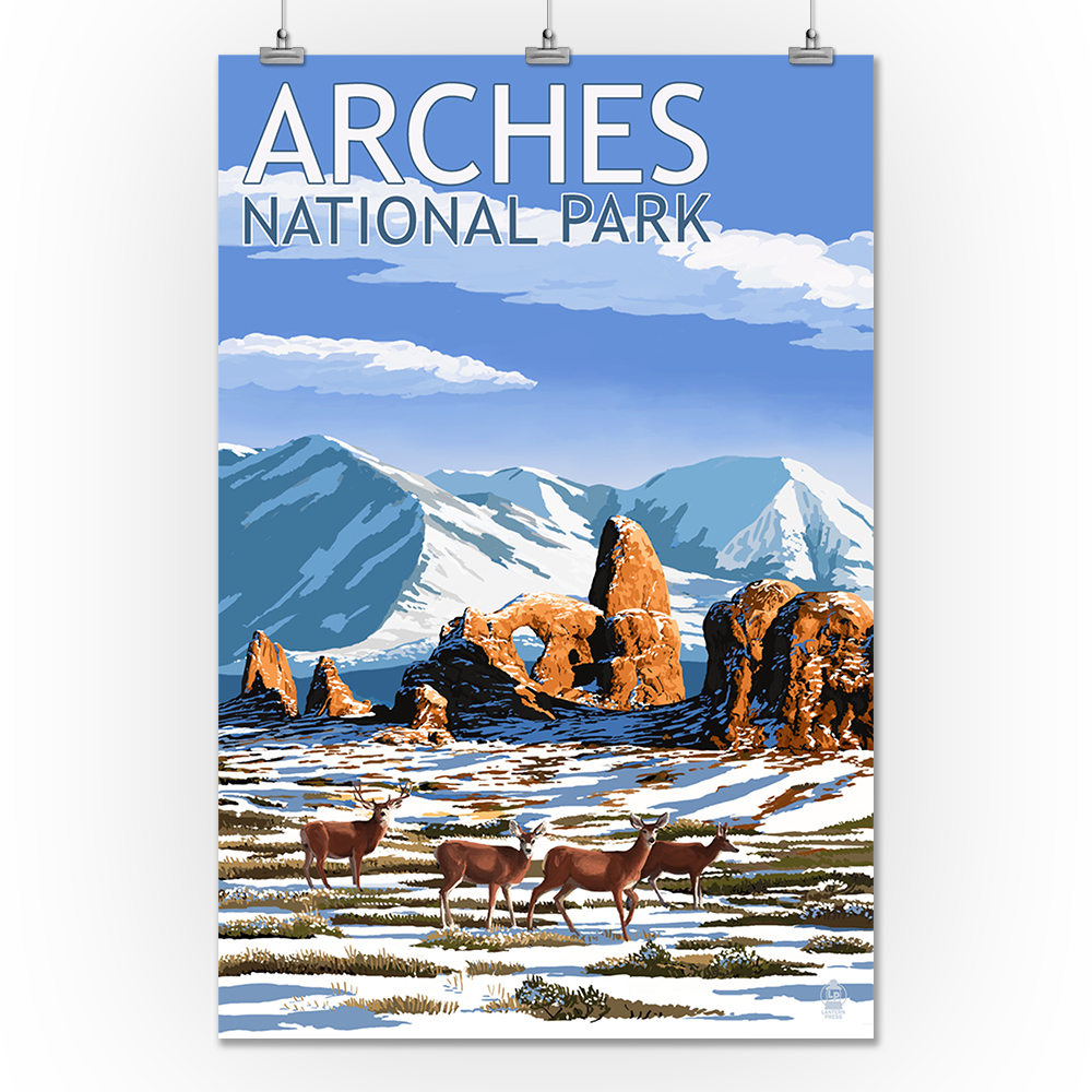 Arches National Park, Utah - Turret Arch in Winter - Lant...