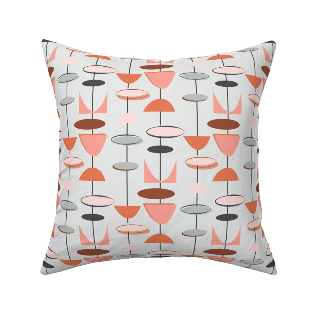 Mid-Century Modern Mid-Century Throw Pillow Cover w Optional Insert by Roostery