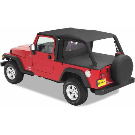 Bestop 90024-35 Jeep Wrangler Unlimited with Factory Hardtop Removed Duster Deck Cover, Black Diamond