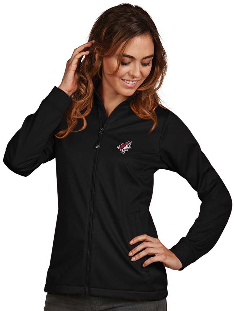 Arizona Coyotes Antigua Women's Golf Full Zip Jacket Black by ANTIGUA GROUP/ 22534