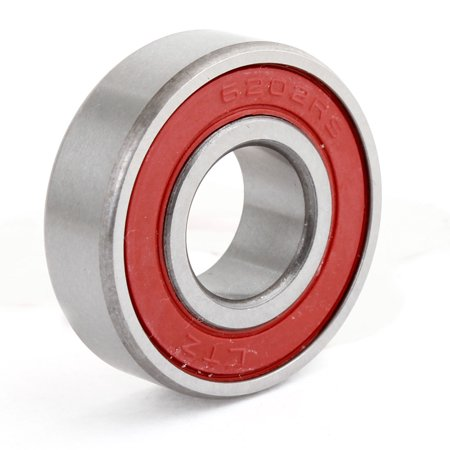 Unique Bargains Roller Wheel 6202-2RS Deep Groove Ball Bearing 15 x 35 x - Grooved Roller