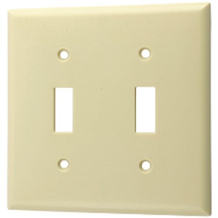 Switched Double Wall Light - Morris Double Gang Light Switch Wall Plate 81753