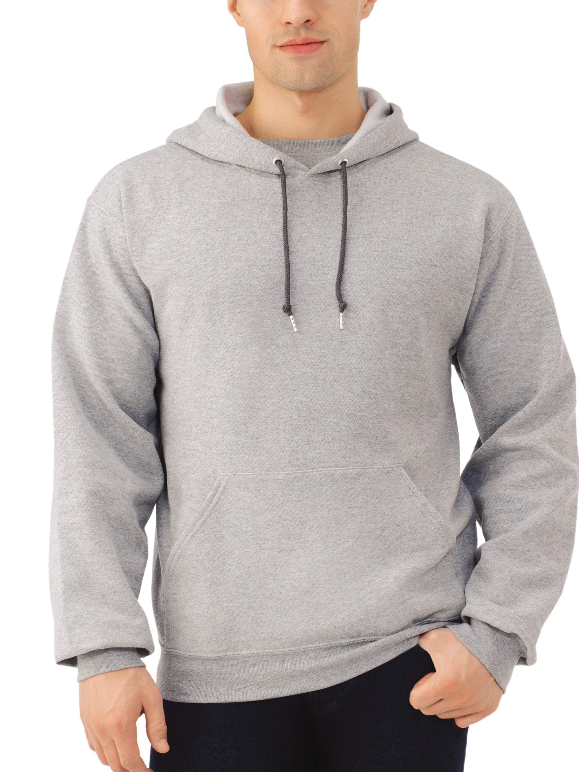 Fruit of the Loom Fruit of the Loom Men's and Big Men's Eversoft Fleece Pullover Hoodie Sweatshirt, up to Size 3XL