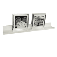 InPlace Floating Picture Ledge Shelf, 35.4 in W x 4.5 in D x 3.5 in H, White