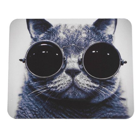 Cat Pattern Anti-Slip Laptop PC Mice Pad Mat Mousepad For Optical Laser Mouse - image 1 of 8
