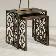 American Drew Bob Mackie Nesting Tables in Brown Metal