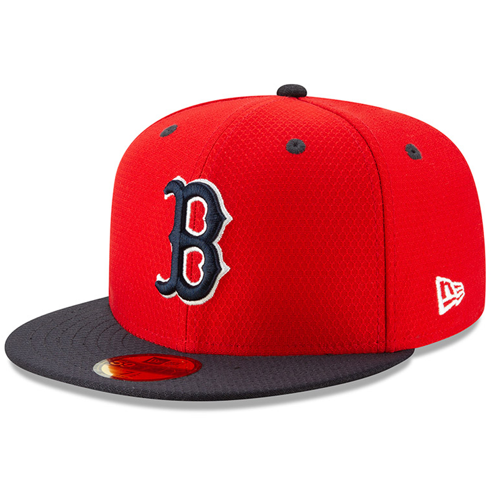 Boston Red Sox New Era Youth 2019 Batting Practice 59FIFTY Fitted Hat - Red/Navy