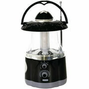 Northpoint 190507 12-LED Lantern with 4-LED Flashlight and AM/FM Radio, Black