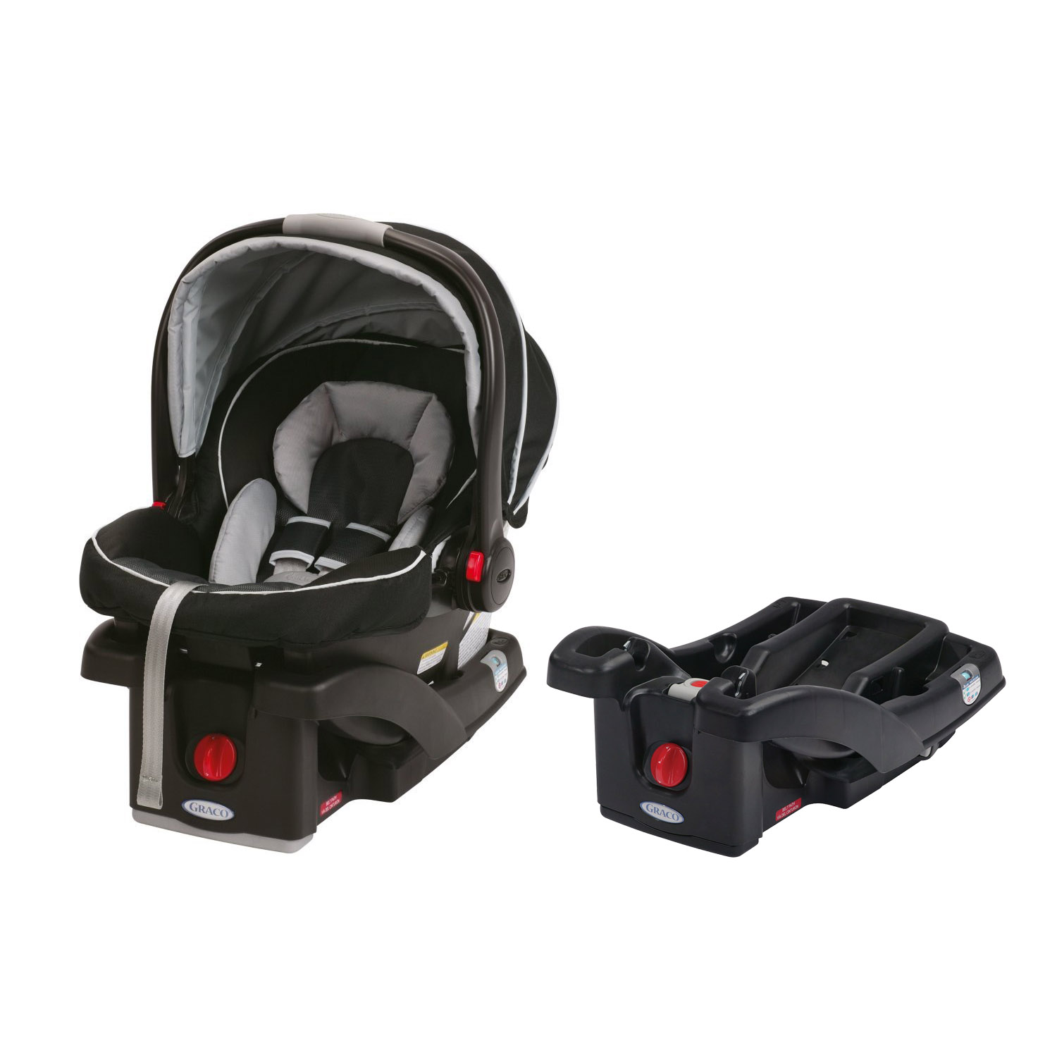 Graco SnugRide Click Connect 35 Baby Infant Car Seat, Gotham with Extra Base