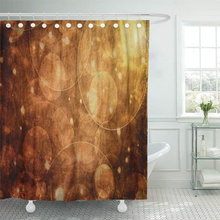 BSDHOME Brown Bokeh Abstract Geometric Bokeh Bokeh Circular Floating Rings Bathroom Shower Curtains 60x72 inch - image 1 of 1