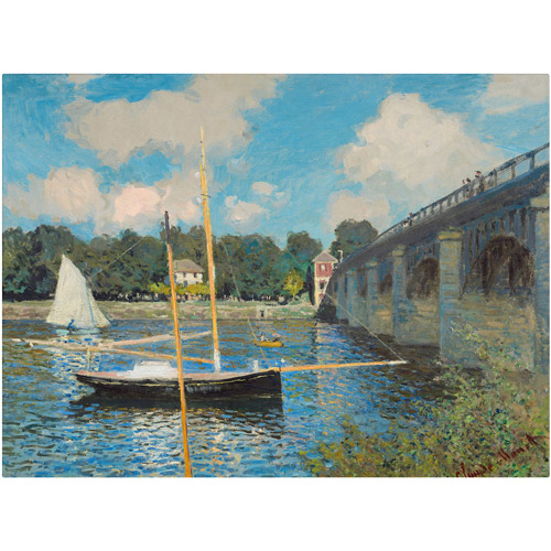 "Trademark Fine Art ""The Bridge at Argenteuil"" 1874 Canvas Art by Claude Monet"