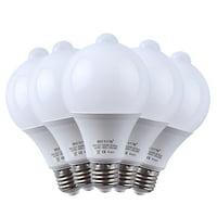 5-Pack Motion Sensor + Light Sensor Bulb, 7W 630Lumens E27 PIR LED Lamp and Dusk to Dawn Auto Switch Light Bulb for Stairs, Garage, Corridor, Walkway, Yard, Hallway, Patio, Carport - Cool White