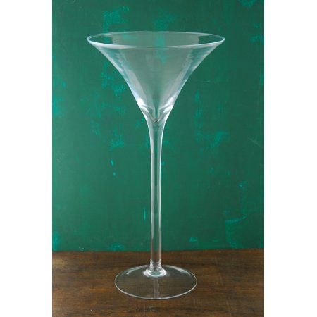 2 Pieces Of 20 Inches Tall Glass Martini Glass Vase Walmart