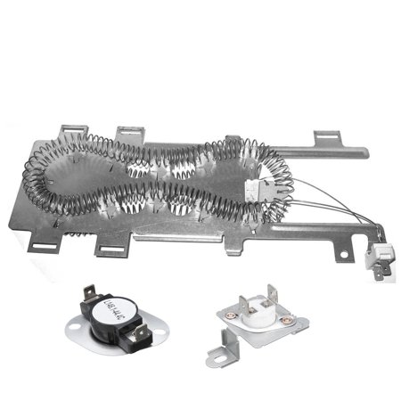 8544771 & 279973 Dryer Heater and Thermostat Kit for Whirlpool, Kenmore, Maytag Dryers Heater Core Kit