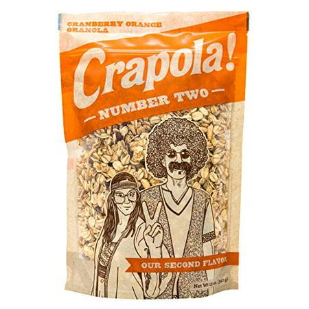 Crapola #2 Cranberry Orange Granola Cereal - All Natural, Healthy Breakfast or Snack - 12 oz