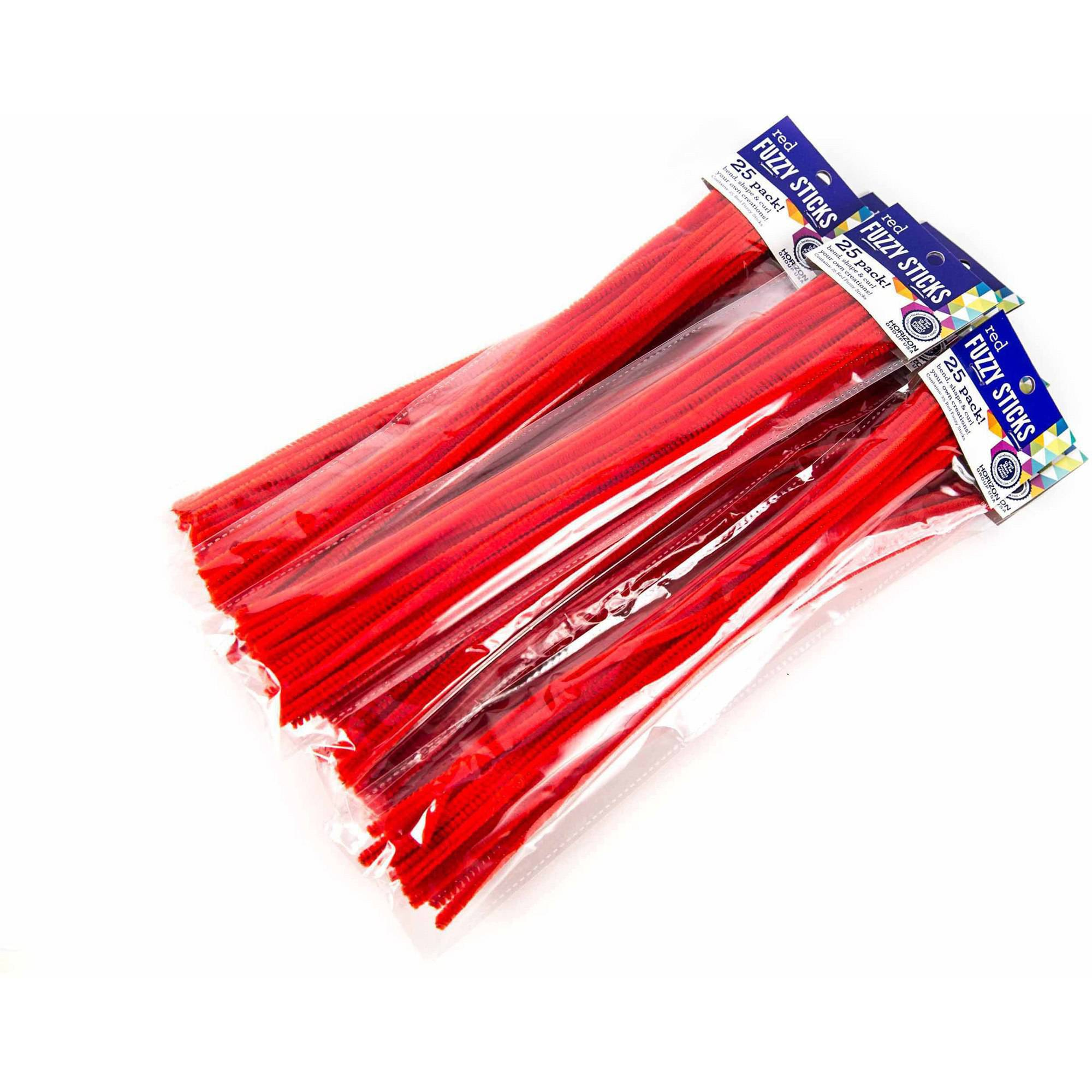Horizon Group USA Red Fuzzy Sticks, 9pk