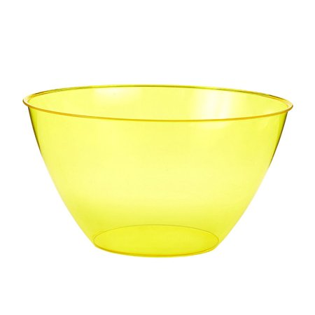 Amscan Amscan Small Yellow 24oz Plastic Bowl Party Supplies and Decorations